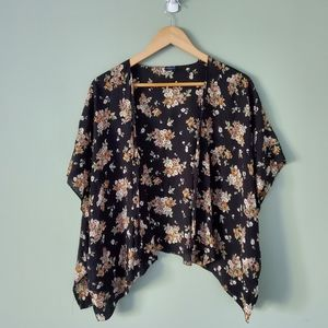 Brandy Melville floral cardigan one size